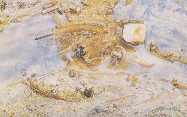 Boden 1 Rinnsaal, Aquarell auf Papier