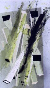 Raumdimensionen, Acryl auf Leinwand
