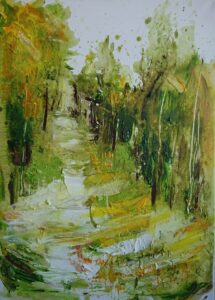 Jan Fekete, Wald, Öl auf Leinwand
